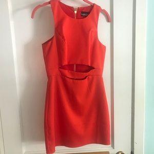 Orange NBD Dress.